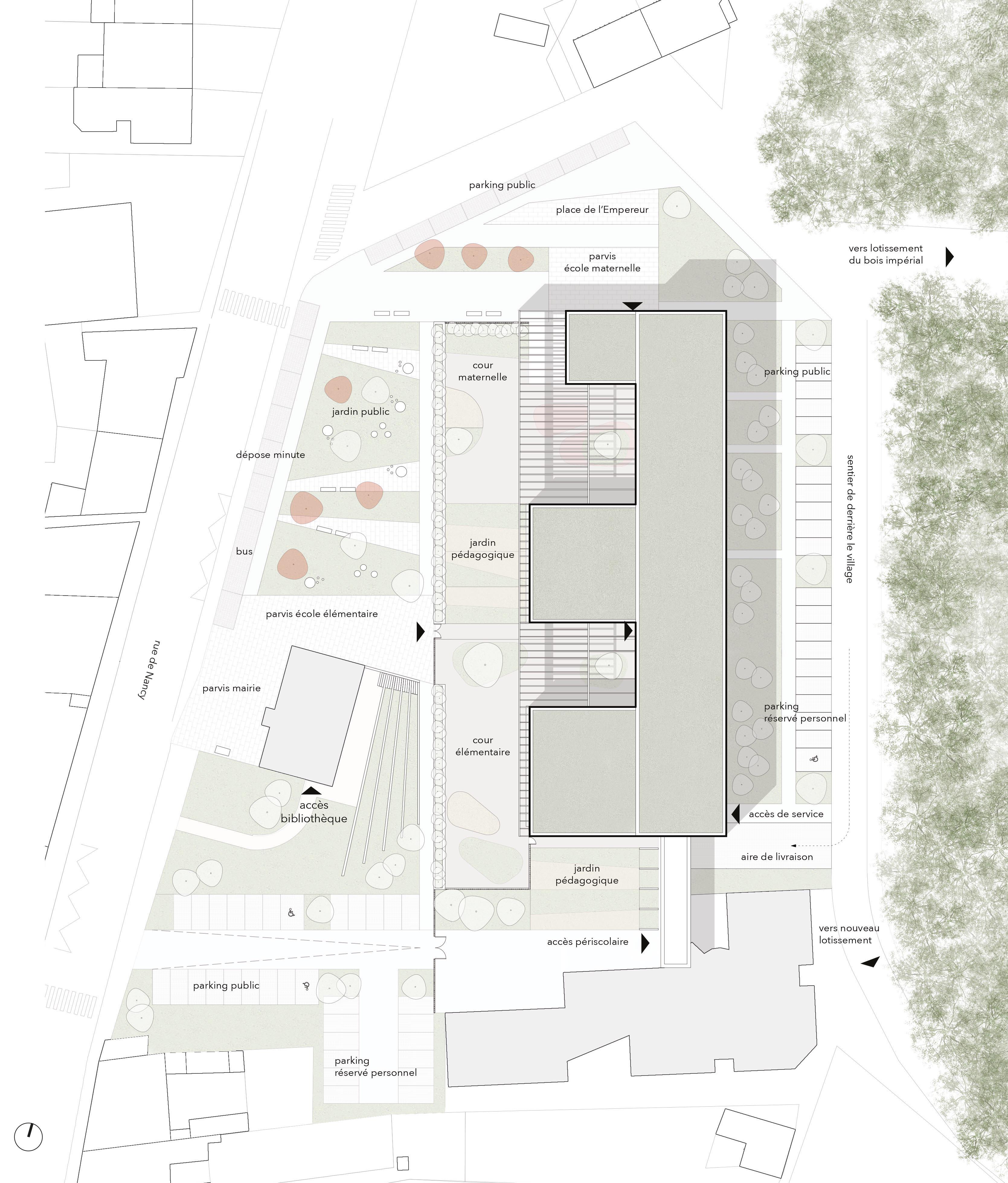 Omnibus | Une école au cœur des jardins à Richardménil